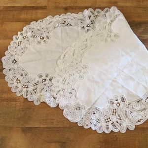 Battenberg Lace Table Runner Hand Crafted